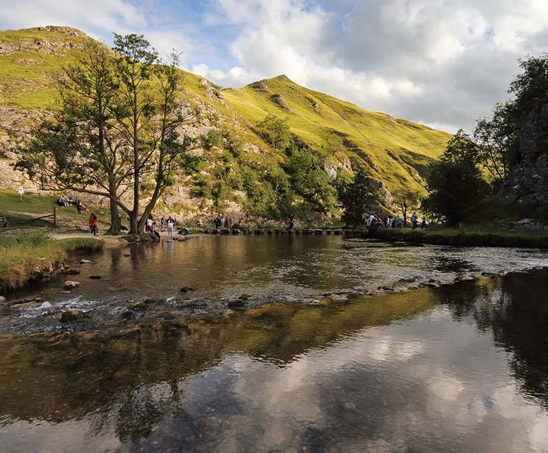 The stepping stones at Dovedale in the Peak District