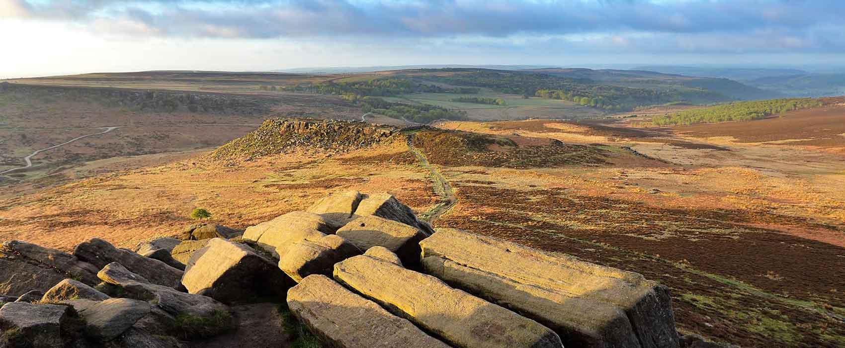 View from Higgar Tor in Peak District