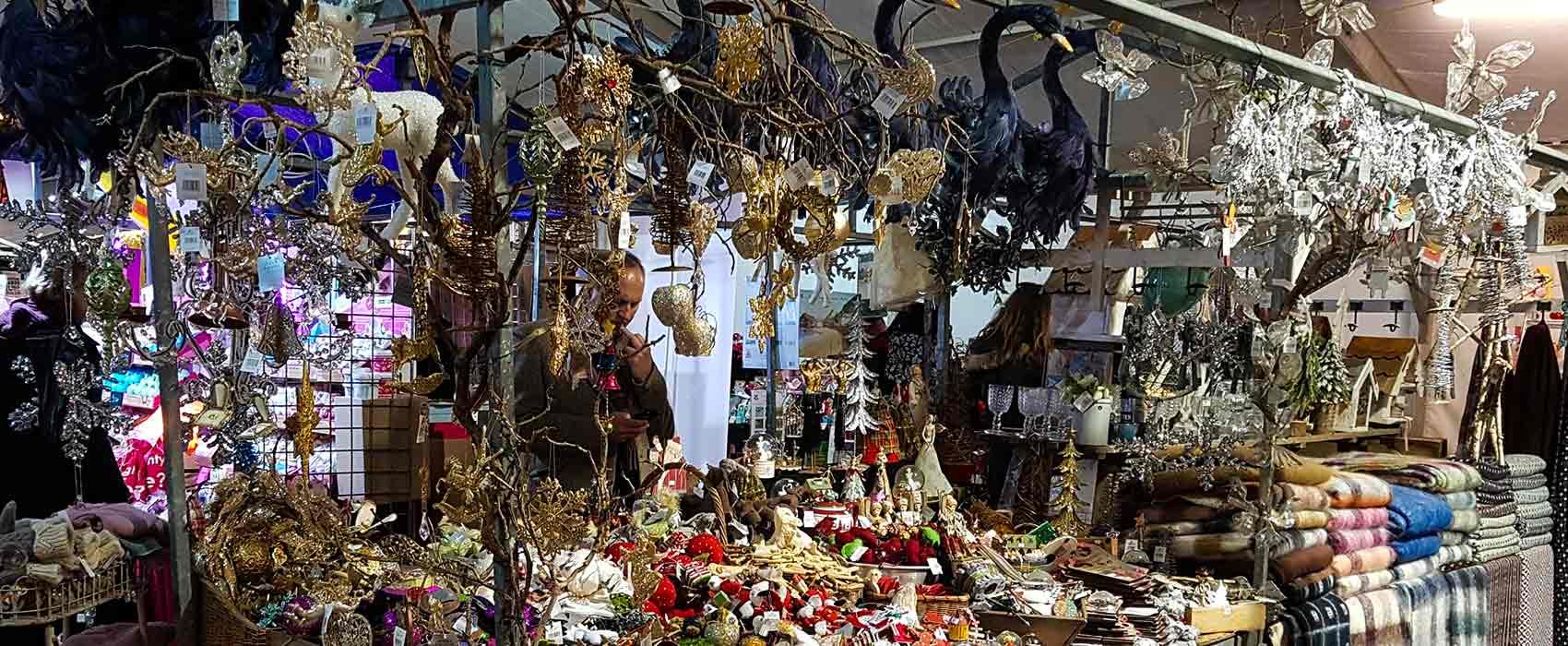 Christmas market stall in Matlock