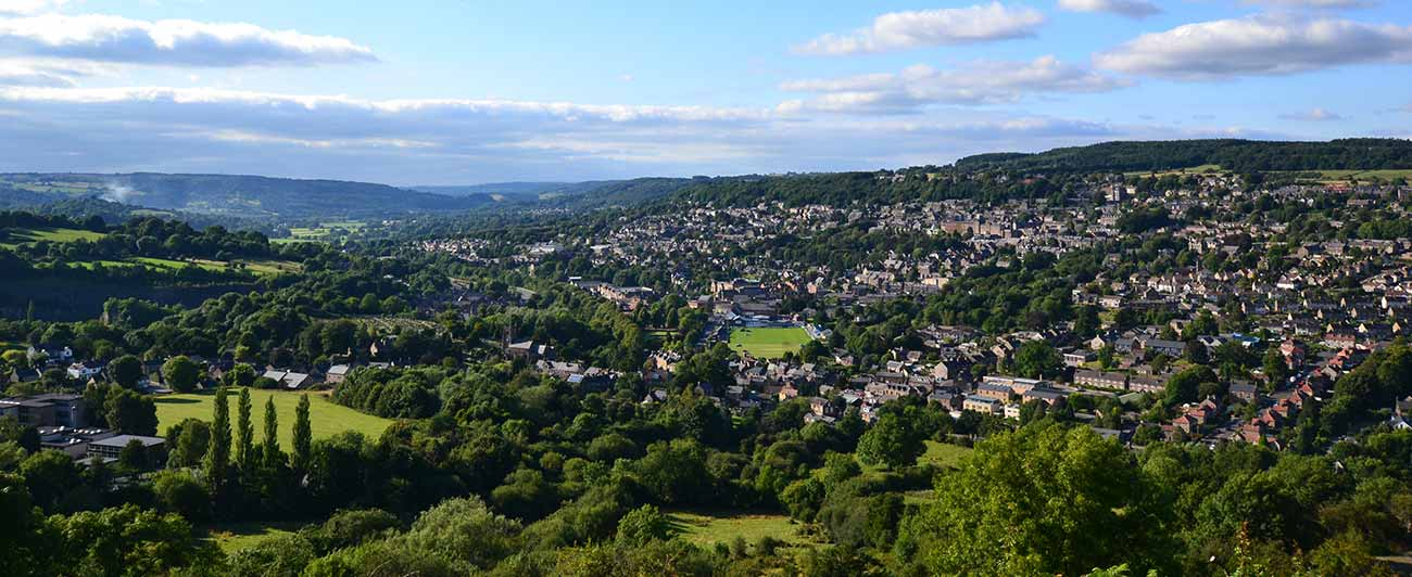 View of Matlock from Riber Castle