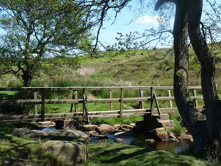 Sheep bridge at Padley Gorge Derbyshire