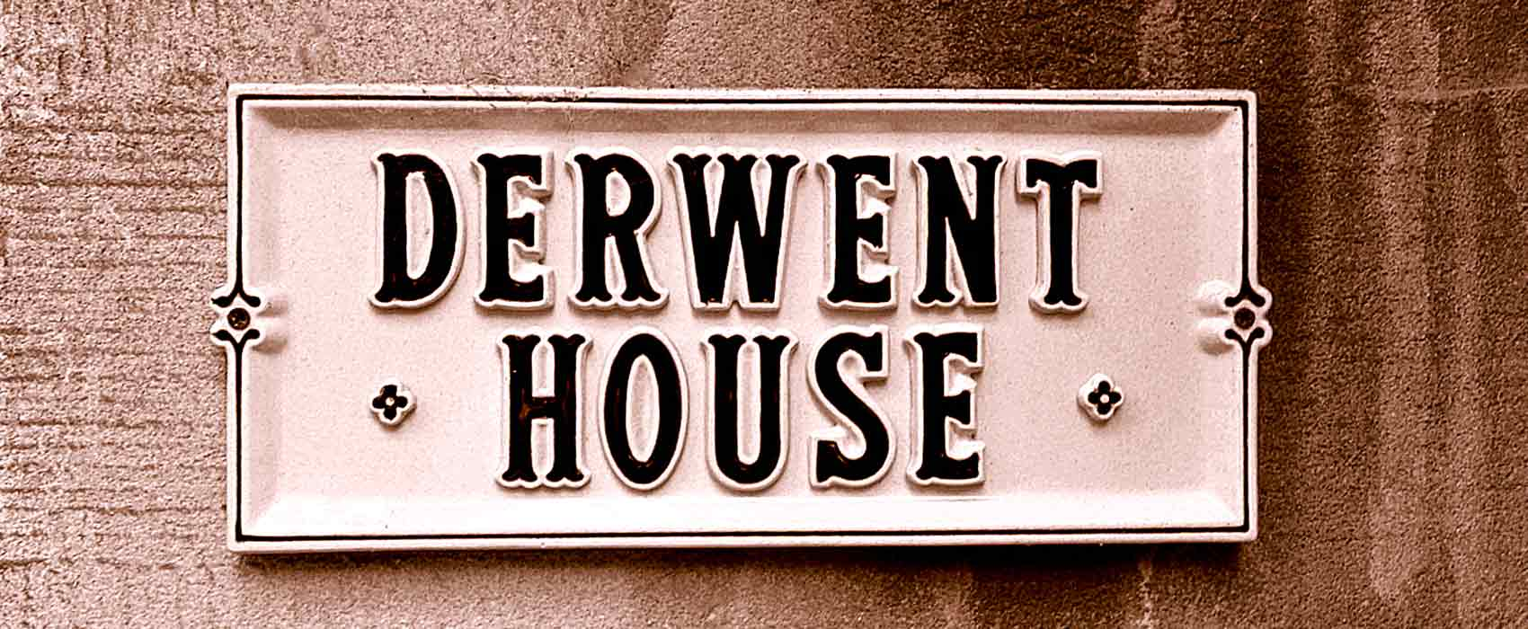 Derwent House sign