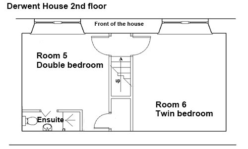 Second floor floorplan of Derwent House