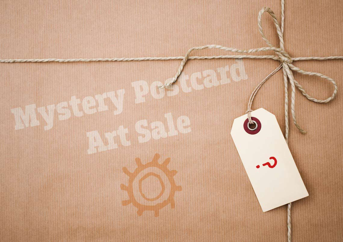 Mystery postcard sale at the Wirksworth Arts Festival