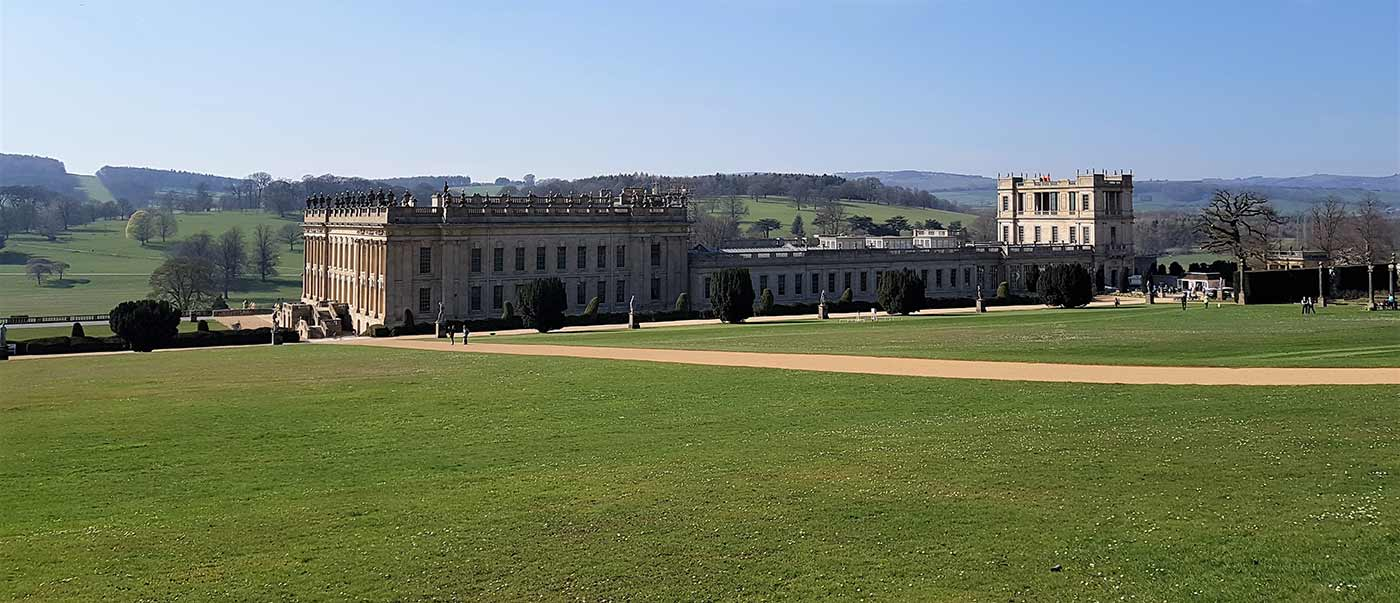 Chatsworth House in the Spring