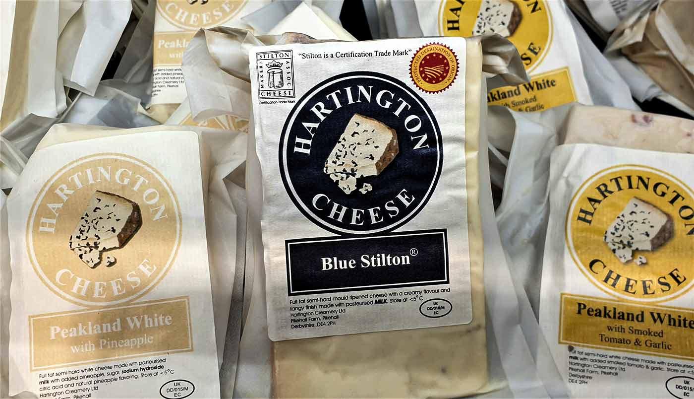 Hartington cheeses