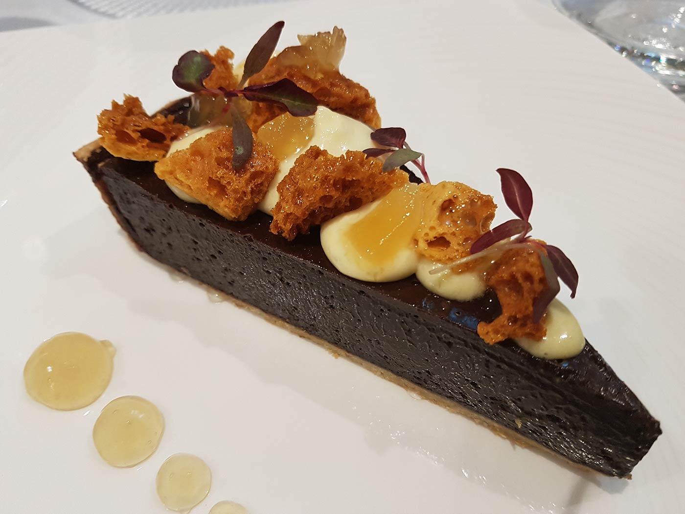 Chocolate tart at Stones Restaurant
