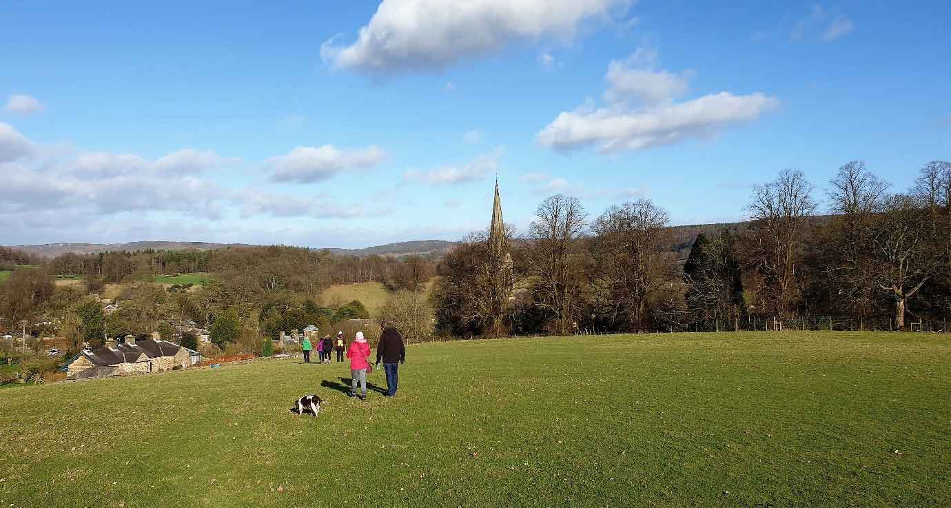 View of Edensor, part of Chatsworth estate
