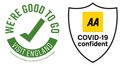 We're good to go and AA Covid-19 logos