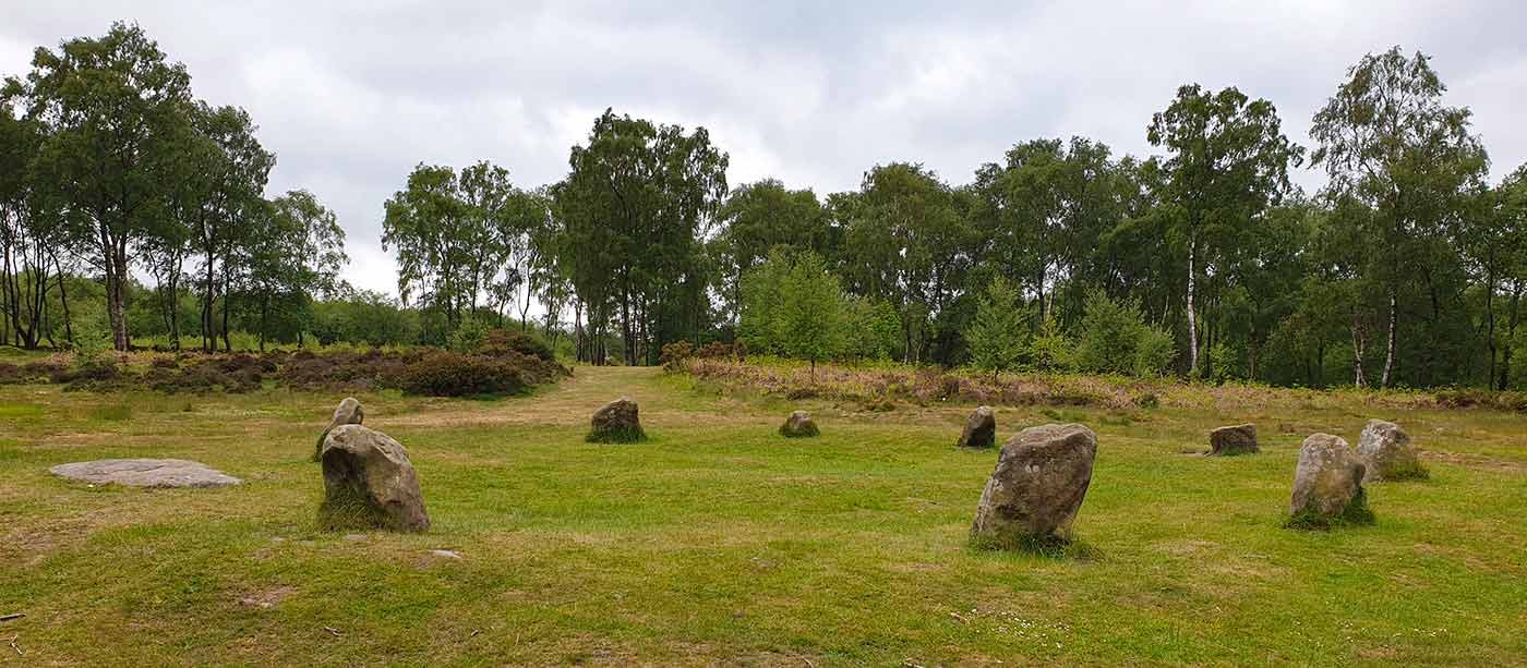 Visit the Nine Ladies ancient monument during staycation in Derbyshire