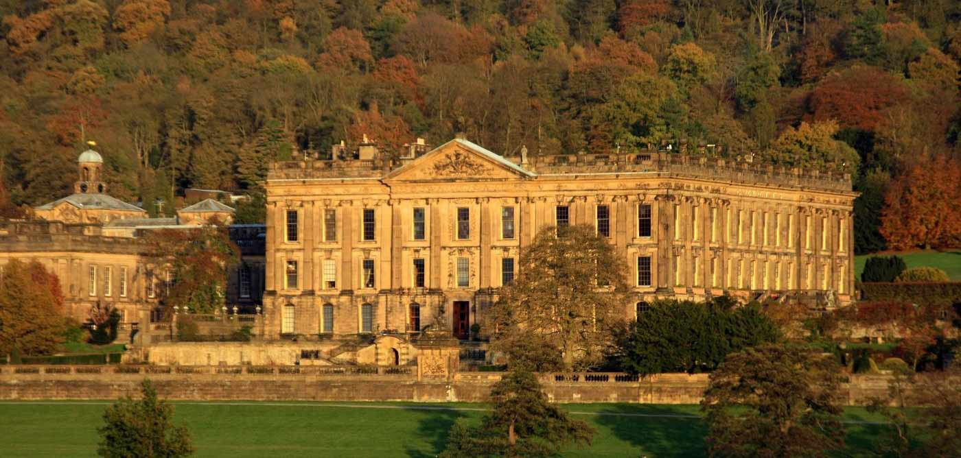 Chatsworth house in the summer