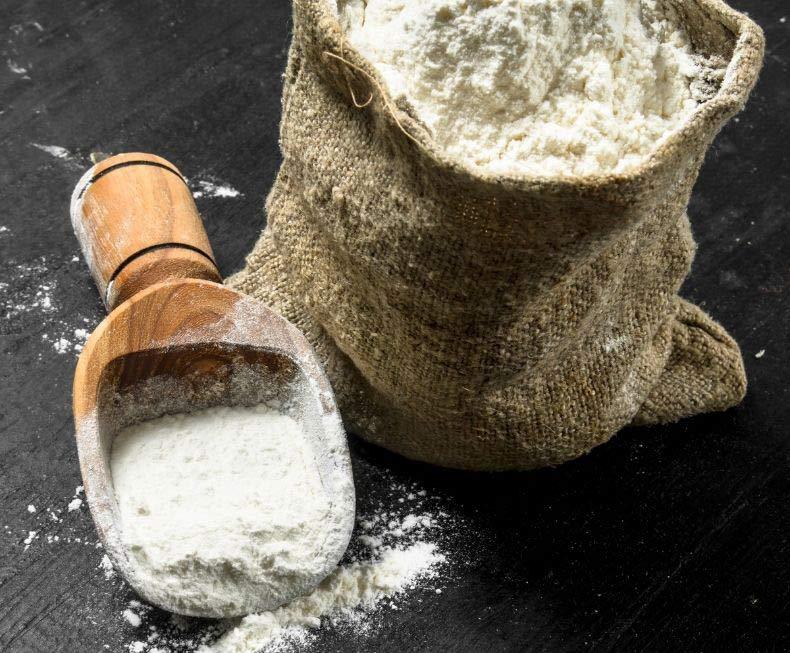 Sack of milled flour