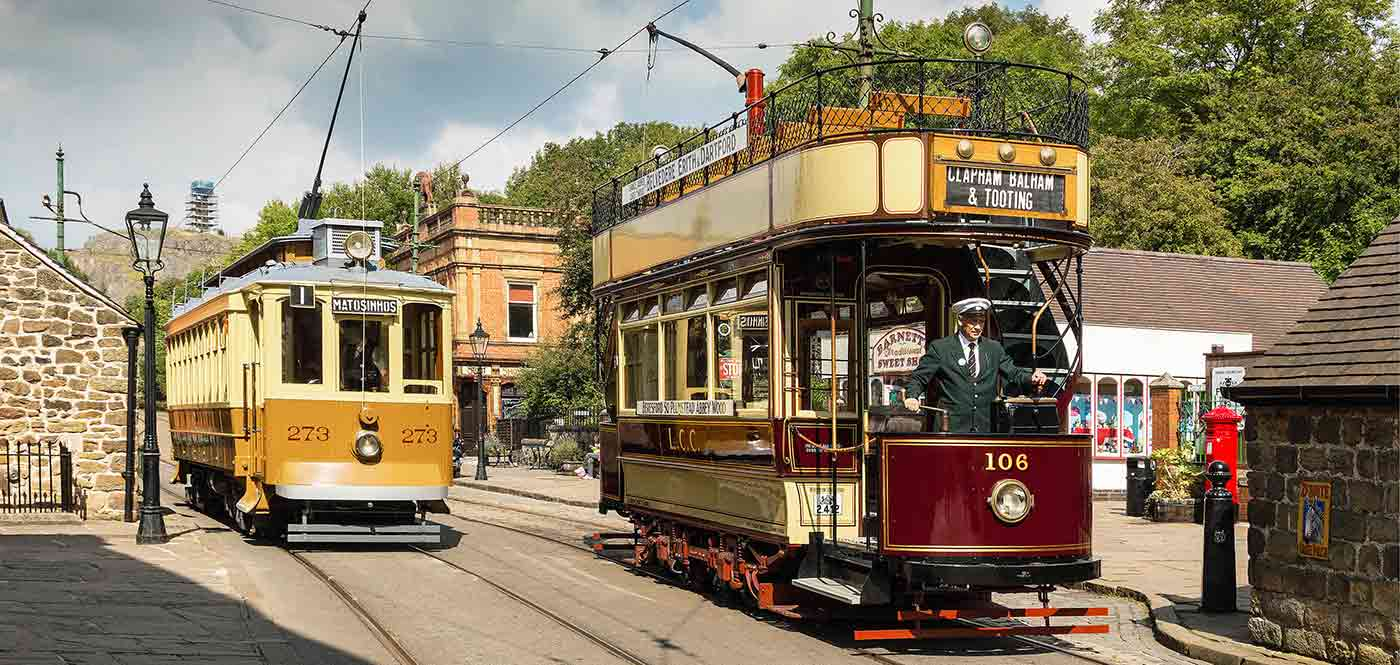 Crich tramway attraction in Matlock