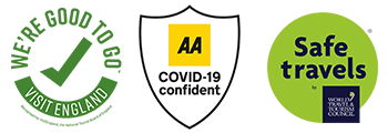 Covid safe to stay logos