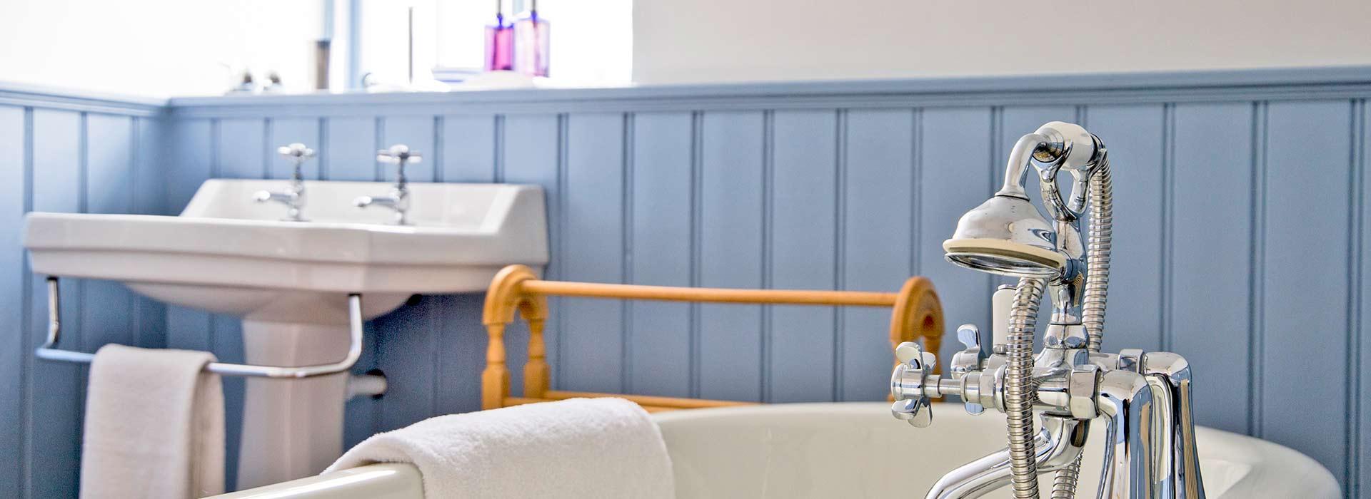 Blue family bathroom